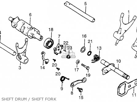 Honda Xr500 1980 (a) Usa parts list partsmanual partsfiche