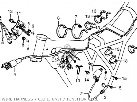 Honda XR500 1980 (A) USA parts lists and schematics