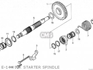 Honda XR500R 1981 (B) parts lists and schematics
