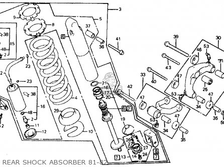 Honda XR500R 1981 (B) USA parts lists and schematics