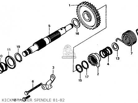 Honda XR500R 1982 (C) USA parts lists and schematics