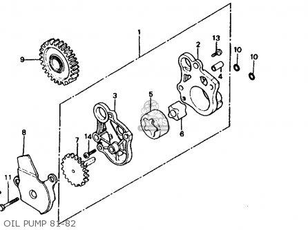 Honda Xr500r 1982 (c) Usa parts list partsmanual partsfiche