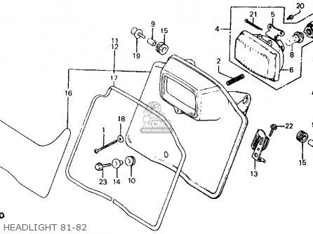 Honda Xr500r 1982 Usa parts list partsmanual partsfiche