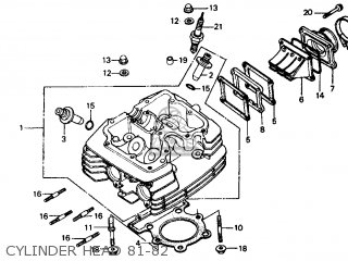 Honda XR500R 1983 (D) USA parts lists and schematics