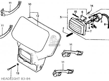 Honda Xr500r 1983 Usa parts list partsmanual partsfiche