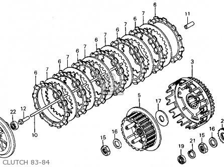 Honda XR500R 1984 (E) USA parts lists and schematics