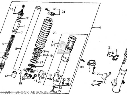 Honda XR500R 1984 (E) USA parts lists and schematics