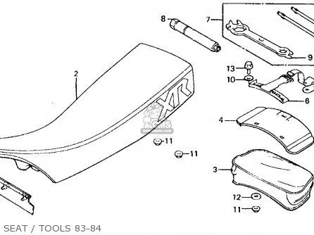 Honda Xr500r 1984 Usa parts list partsmanual partsfiche