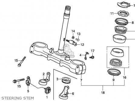 Honda Xr600r 1985 (f) South Africa parts list partsmanual