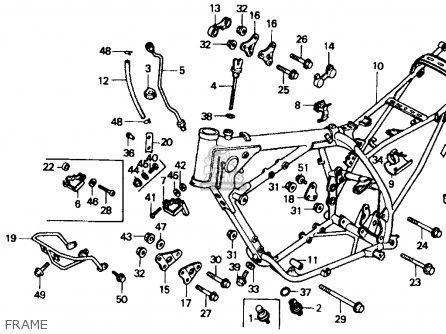 Honda XR600R 1985 (F) USA parts lists and schematics