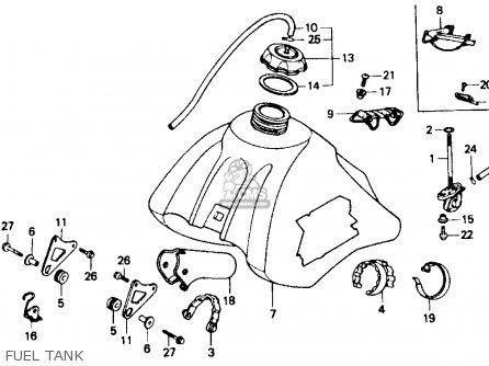Honda Xr600r 1985 (f) Usa parts list partsmanual partsfiche