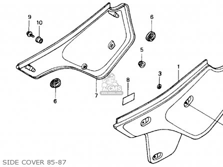 Honda XR600R 1985 (F) USA parts lists and schematics