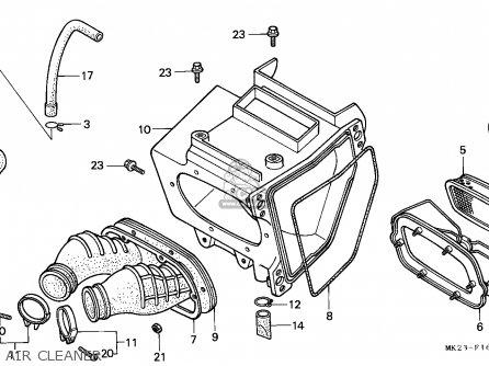 Honda Xr600r 1986 Australia parts list partsmanual partsfiche