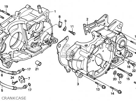 Honda XR600R 1986 (G) AUSTRALIA parts lists and schematics