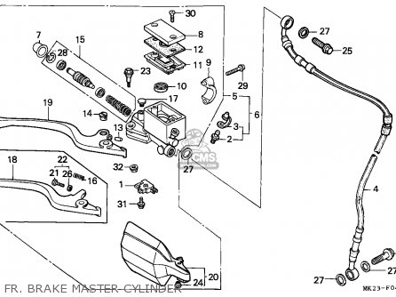 Honda XR600R 1986 (G) CANADA parts lists and schematics