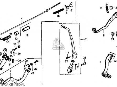 Honda XR600R 1986 (G) USA parts lists and schematics