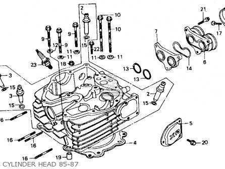 Honda Xr600r 1986 (g) Usa parts list partsmanual partsfiche