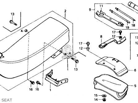 Honda Xr600r 1986 Usa parts list partsmanual partsfiche