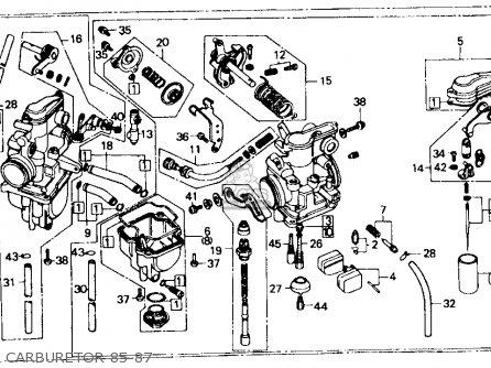 Honda Xr600r 1987 Usa parts list partsmanual partsfiche