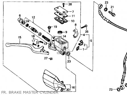 Honda Xr600r 1987 Usa parts list partsmanual partsfiche