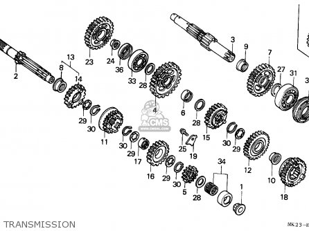 Honda Xr600r 1988 (j) Australia parts list partsmanual