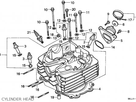 Honda Xr600r 1988 (j) Belgium parts list partsmanual