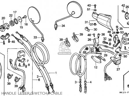 Honda Xr600r 1988 (j) Belgium parts list partsmanual