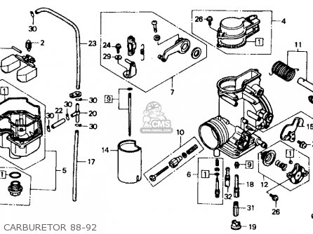 Honda XR600R 1988 (J) USA parts lists and schematics