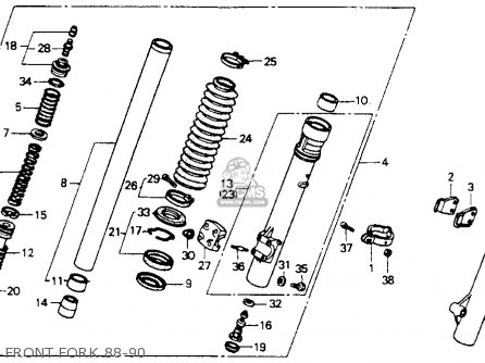 Honda XR600R 1988 (J) USA parts lists and schematics