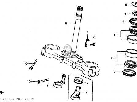 Honda Xr600r 1988 (j) Usa parts list partsmanual partsfiche