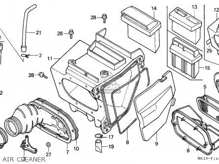Honda Xr600r 1989 (k) Belgium parts list partsmanual