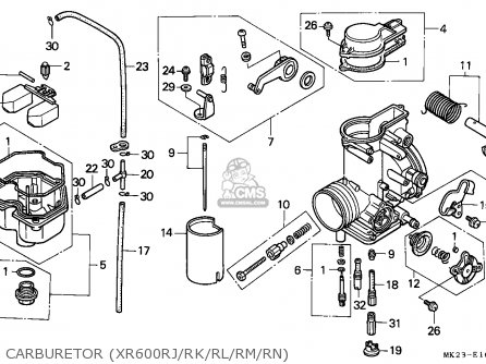 Honda Xr600r 1989 (k) Belgium parts list partsmanual