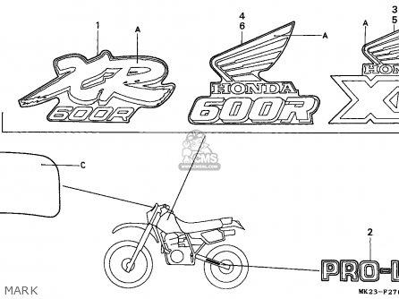 Honda XR600R 1989 (K) GENERAL EXPORT / KPH parts lists and