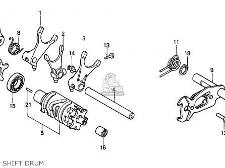 Honda Xr600r 1989 (k) General Export / Kph parts list