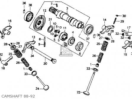 Honda Xr600r 1989 Usa parts list partsmanual partsfiche