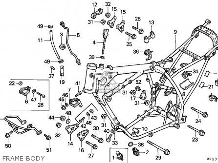 Honda XR600R 1990 (L) SWEDEN parts lists and schematics