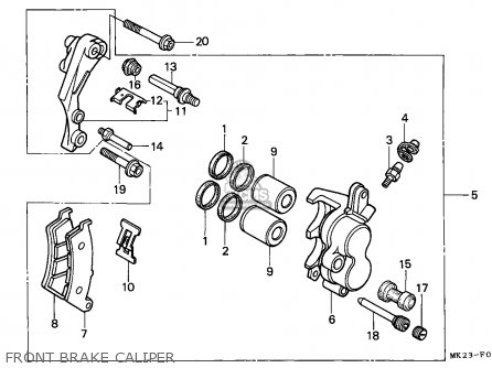 Honda Xr600r 1991 (m) European Direct Sales parts list