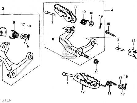 Honda Xr600r 1991 (m) Usa parts list partsmanual partsfiche