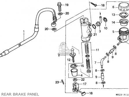 Honda Xr600r 1992 (n) Australia parts list partsmanual