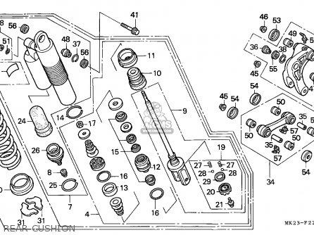 Honda Xr600r 1992 (n) Belgium parts list partsmanual