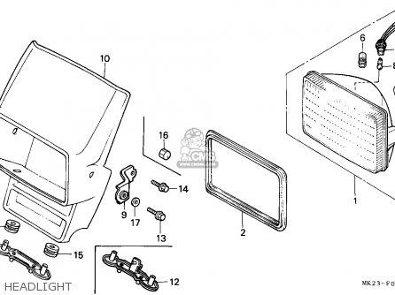 Honda Xr600r 1992 (n) European Direct Sales parts list
