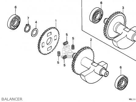 Honda Xr600r 1992 (n) General Export / Kph parts list