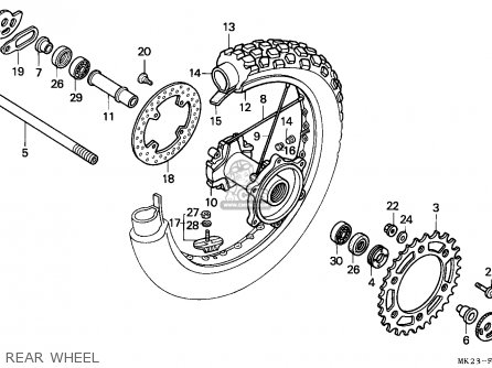 Honda XR600R 1992 (N) GENERAL EXPORT / KPH parts lists and