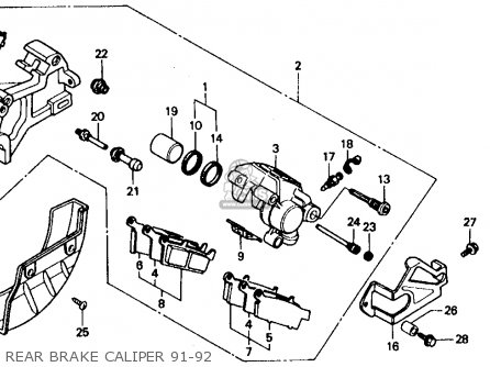 Honda XR600R 1992 (N) USA parts lists and schematics