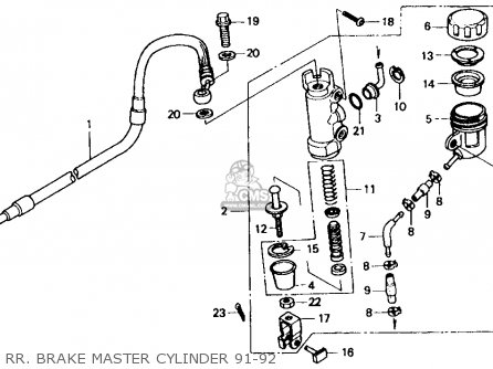 Honda XR600R 1992 (N) USA parts lists and schematics