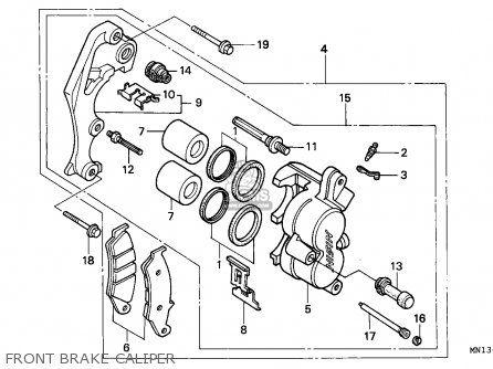 Honda Xr600r 1993 Australia parts list partsmanual partsfiche
