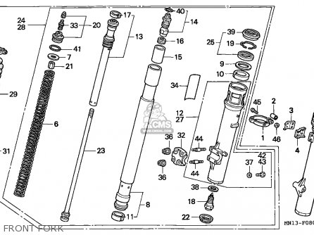 Honda Xr600r 1993 (p) Belgium parts list partsmanual