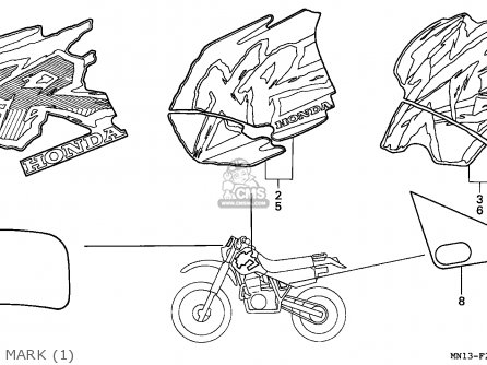 Honda XR600R 1993 (P) CANADA parts lists and schematics