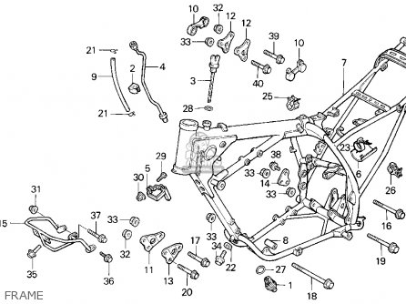 Honda XR600R 1993 (P) USA parts lists and schematics
