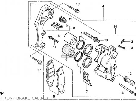 Honda Xr600r 1993 (p) Usa parts list partsmanual partsfiche